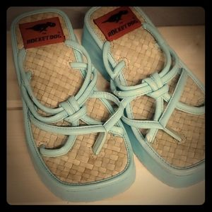 Rocket Dog Cute Aqua Sandals 7.5